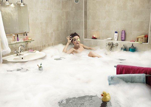 Как сделать девушку в ванне 91