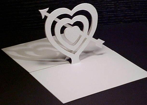 Сердечко открытка 3д, заказать