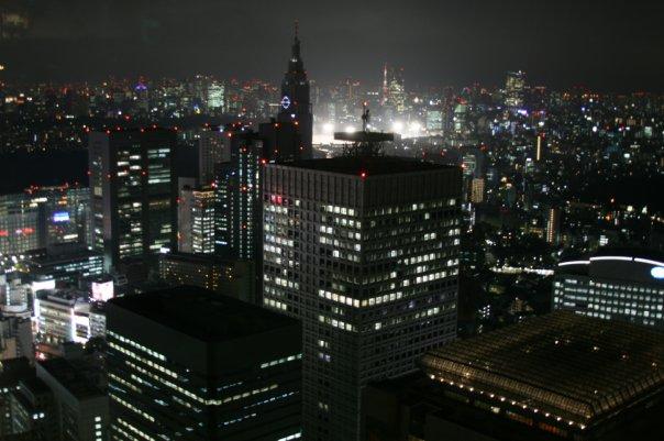 Ночь в Токио (Вид со смотровой площадки)