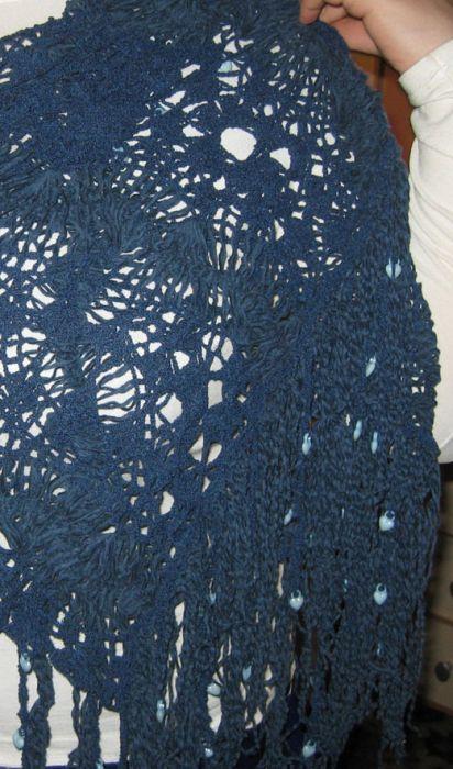 картинки вязание шарфа из ленточной пряжи болеро белый с блестящей ниткой.