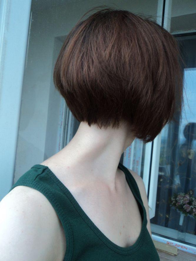 Фото девушек с короткой стрижкой вид сзади