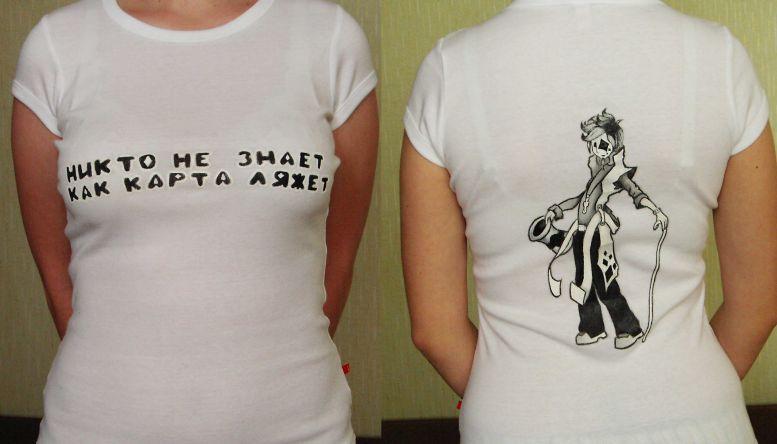 рисунки на футболках акрилом.