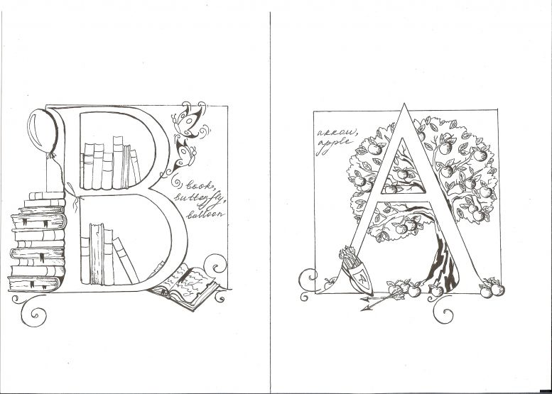 рисунки из букв: