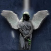 Кладбищенский ангел.  Надгробие.