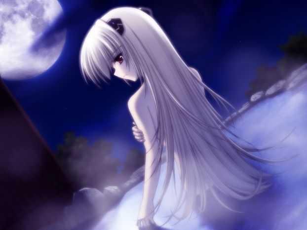картинки аниме с белыми волосами: