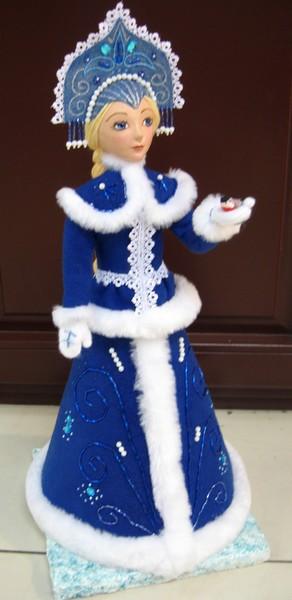 Снегурочка своими руками мастер класс из папье маше