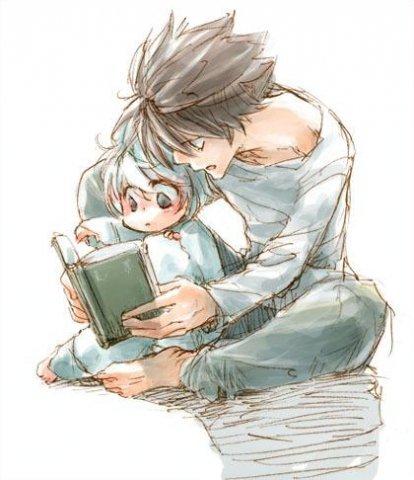 L и Ниа читают книжку...