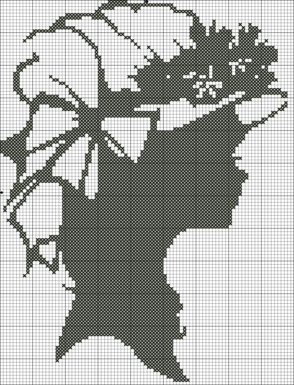 Вышивка крестом черно-белые