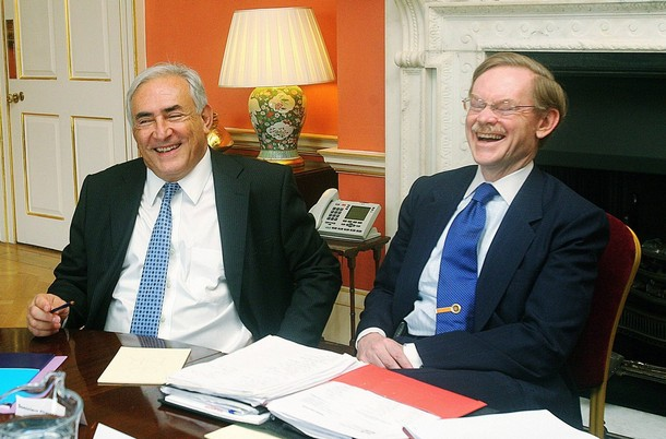 Глава Международного валютного фонда Доминик Стросс-Кан и президент Всемирного банка Роберт Зеллик