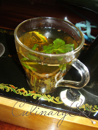 Чай с мятой с похмелья