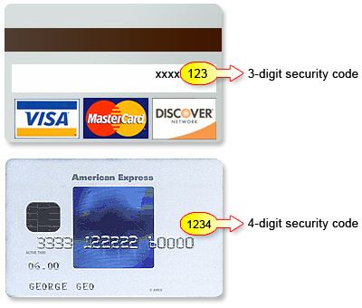 Card Number Examples Cvv2 b Number /b Credit Card