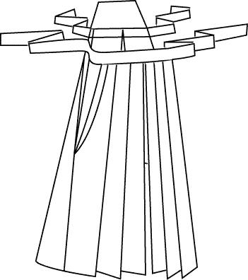 Хакама - это широкие, похожие на юбку брюки. . Они являются неотъемлемой частью традиционного костюма самурая