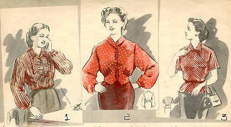 Блузки 50 Годов Фото