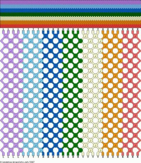 схема косого плетения.
