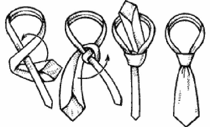 завязывания галстуков.