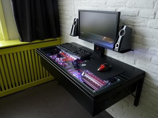 Как сделать в столе компьютер 290