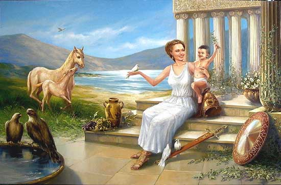 Порно богиня афина