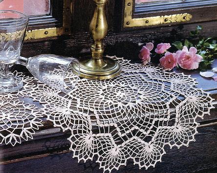 вязание крючком салфетки схемы