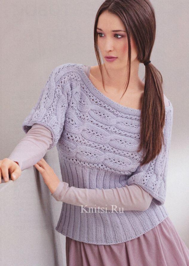 Пуловер спицами и схемы