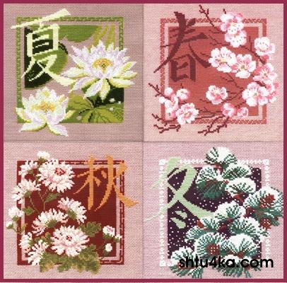 схема вышивки китайские