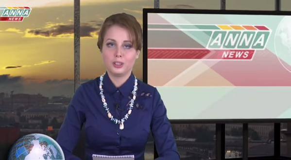 Ведуча ANNA-News зігує на тлі Кремля