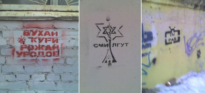 социальные граффити трафареты