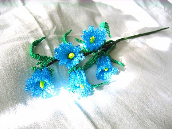Схема к объемному цветку biser.info - всё о бисере и бисерном . цветок колокольчик из бисера ландыши из бисера...